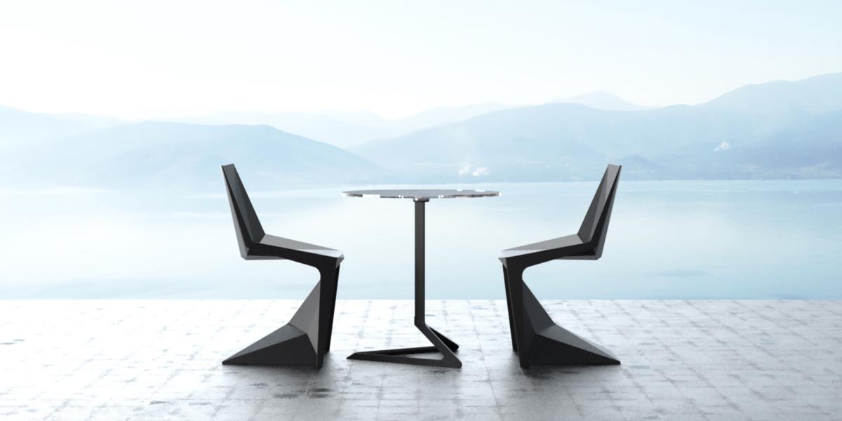 Стулья и кресла Voxel полигональной формы от Карима Рашида